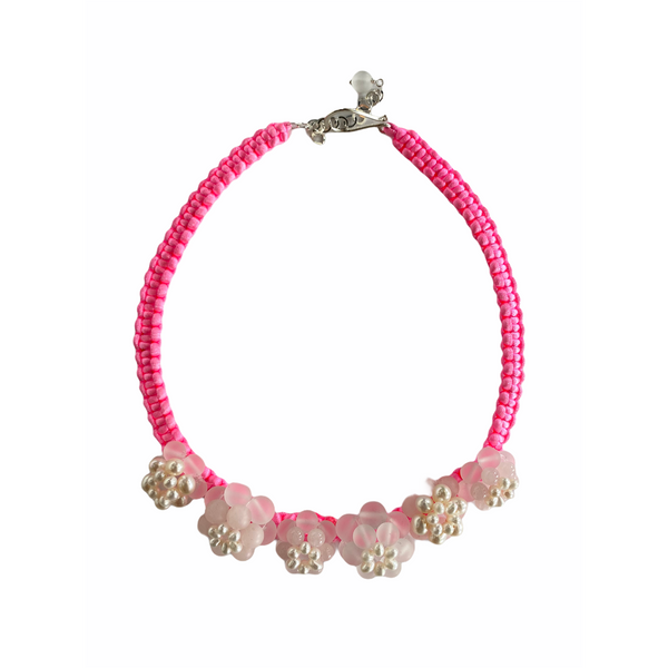 Pink Flower Power Necklace