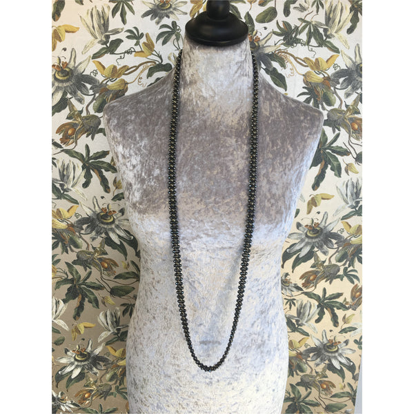 Zip Necklace - Pyrite and Hematite
