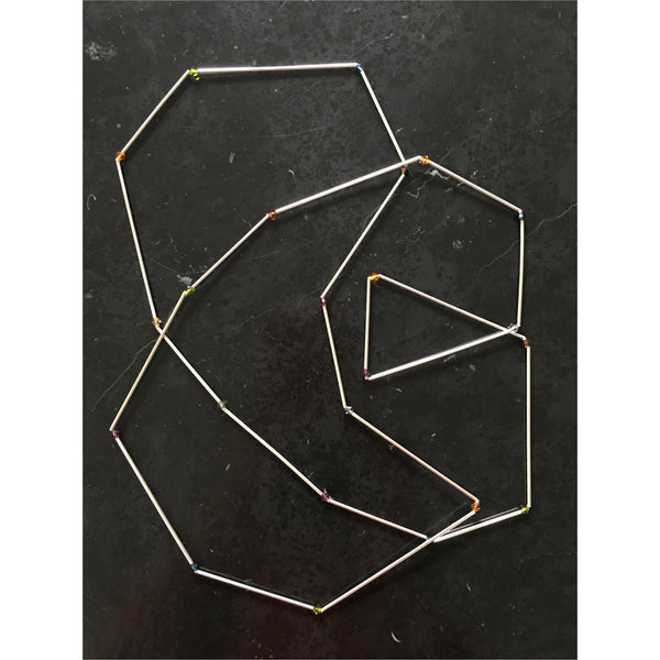 Geo Silver Jewel Necklace