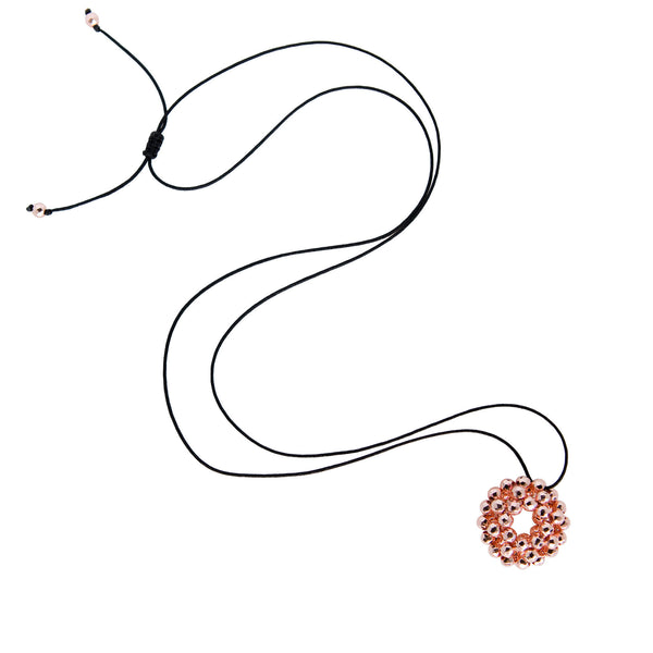 Rose Mini Orbit String Pendant