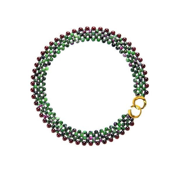 Ruby Zoisite and Garnet Necklace