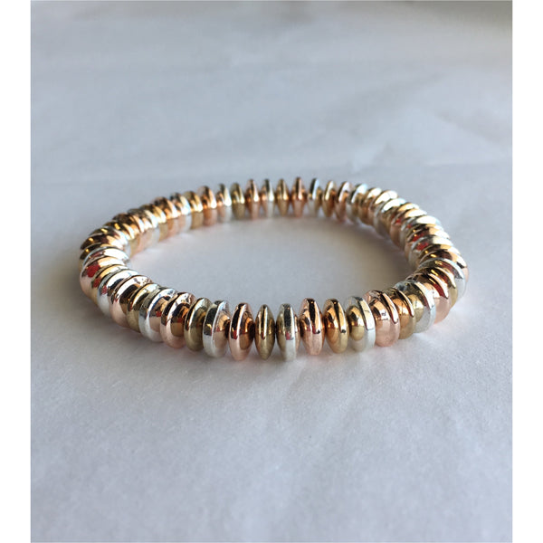 Disco Bracelet - Mixed Rose Gold Silver