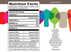 Nutrition Facts and Ingredients of ENOF