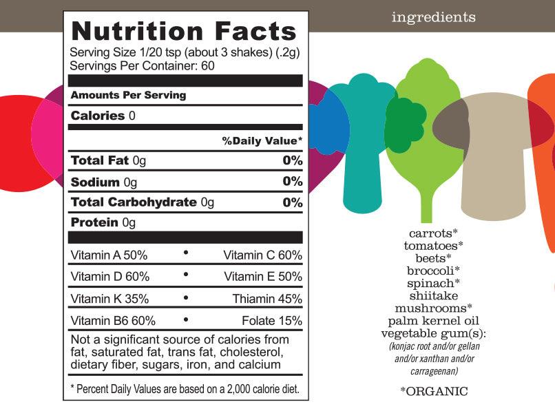 ENOF Nutrition Facts and Ingredient Listing