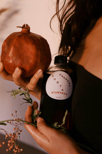 16 Oz Holiday Pomegrante X Blood Orange Abhyanga Body Oil