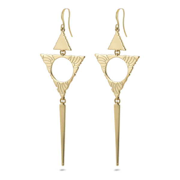 Sigyn Gold Triangle Earrings