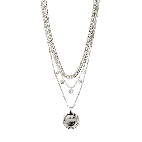 Silver 2-In-1 Necklace Set : Air