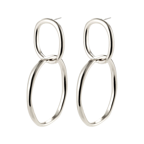 Silver Statement Earrings : Air
