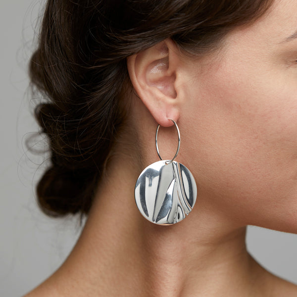 Silver Statement Earrings : Water Element