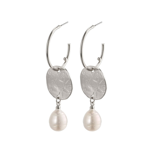 Silver Affection Drop Earrings