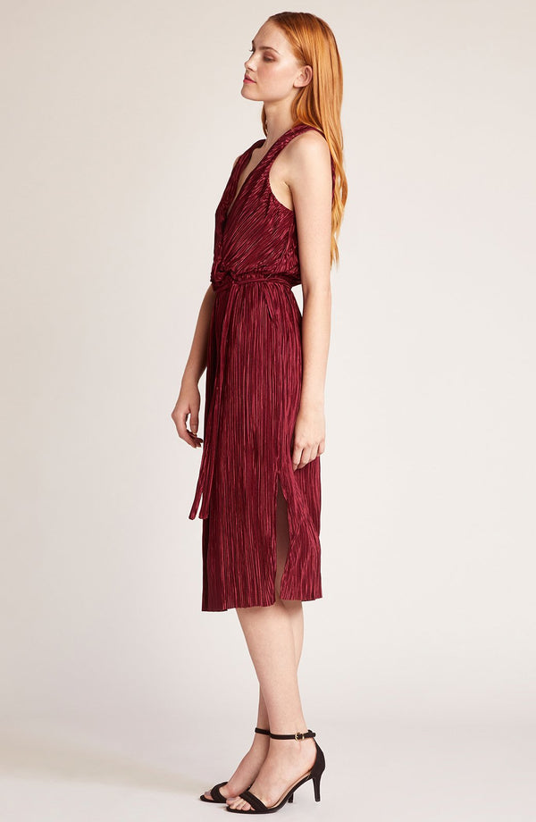 Happy Pleat Wrap Dress