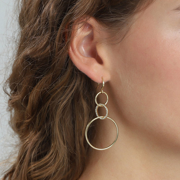 Akira Gold Plated Earrings