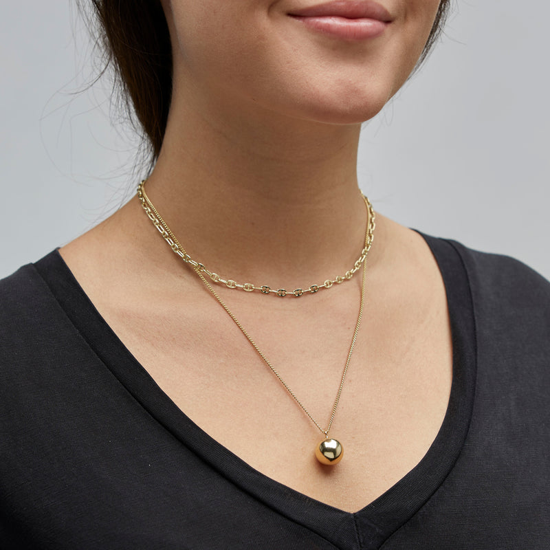 Gold 2-In-1 Necklace Set : Earth