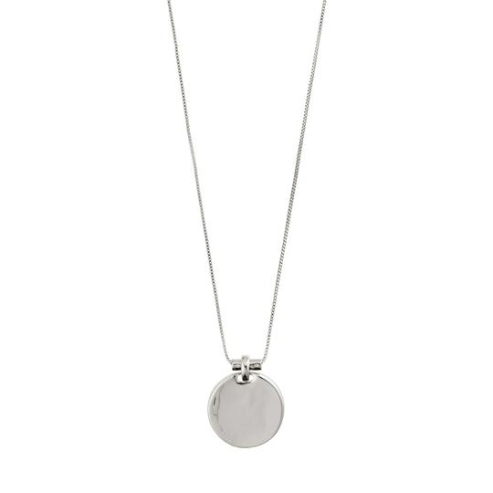 Wisdom Silver Disc Necklace