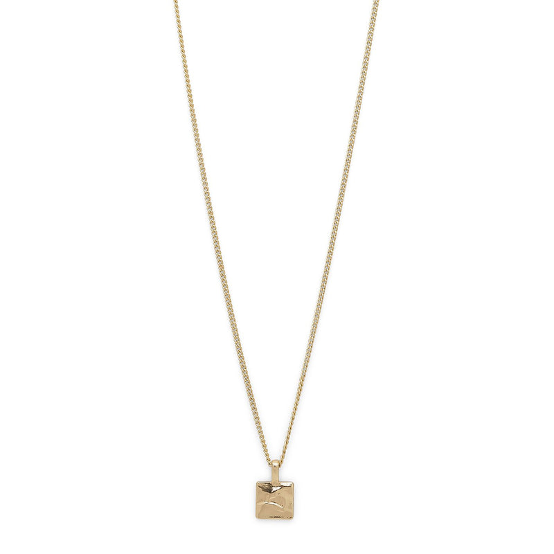 Square Pendant Gold Necklace