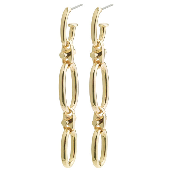 Wisdom Gold Chain Link Earrings