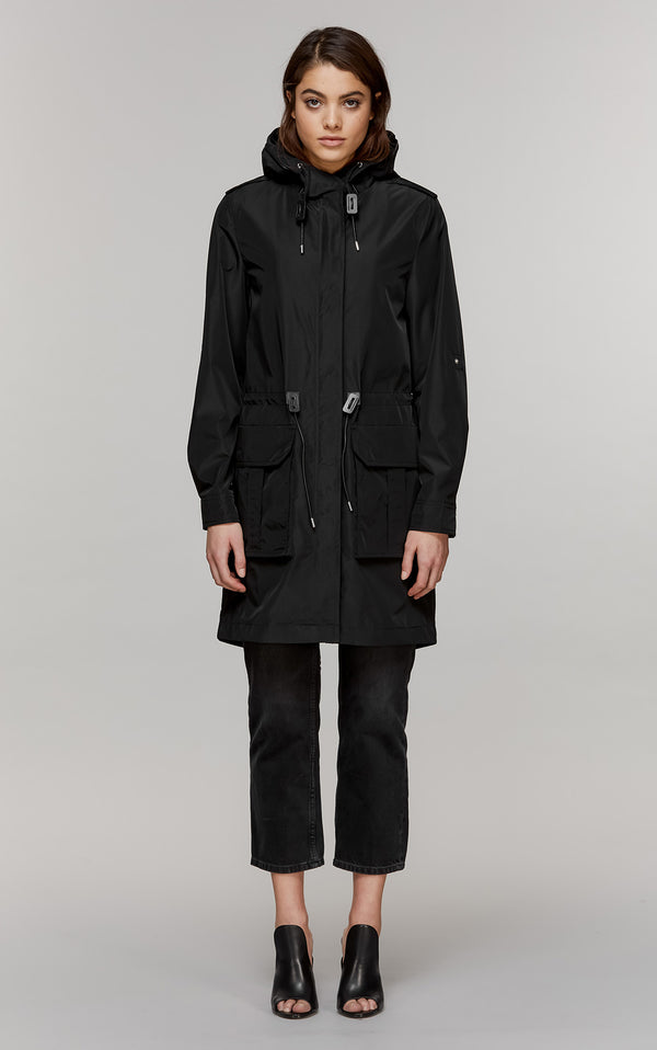 Hara Hooded Rain Coat