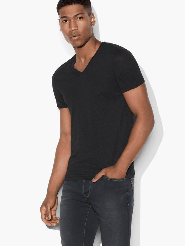 Slub Knit V-Neck