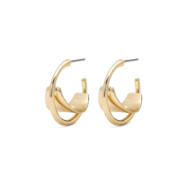Aya Gold Plated Earrings