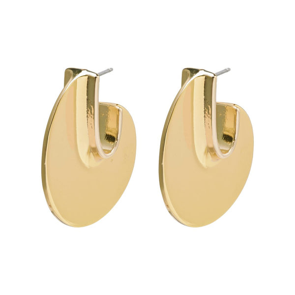 Wisdom Gold Disc Earrings