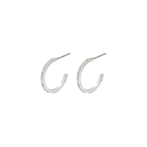 Silver Plated Pull Through Earrings