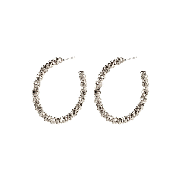 Noa Silver Earrings - Large