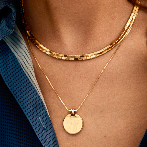Wisdom Gold Disc Necklace