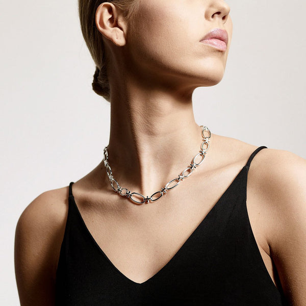 Wisdom Silver Chain Link Necklace