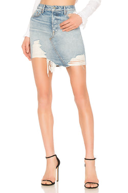The Rhoda High Low Mini Skirt