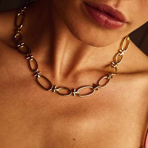 Wisdom Gold Chain Link Necklace