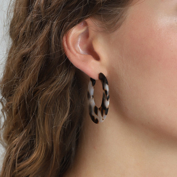 Brown Enamel Earrings