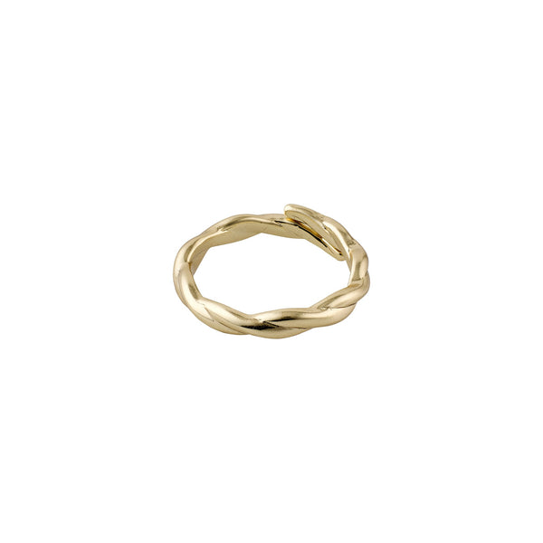 Gold Lulu Braided Ring