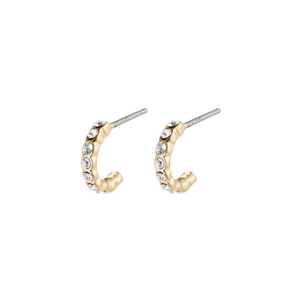 Gold Brigitte Mini Crystal Hoops