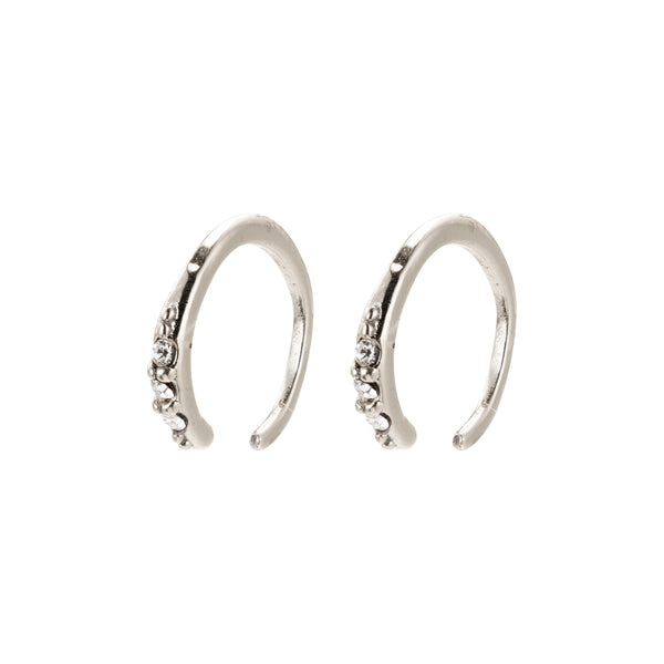 Silver 2-In-1 Mini Half Hoop