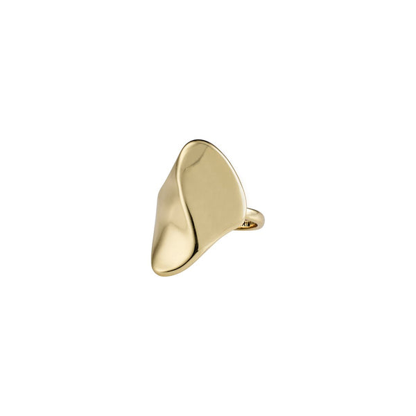 Wisdom Gold Wave Ring