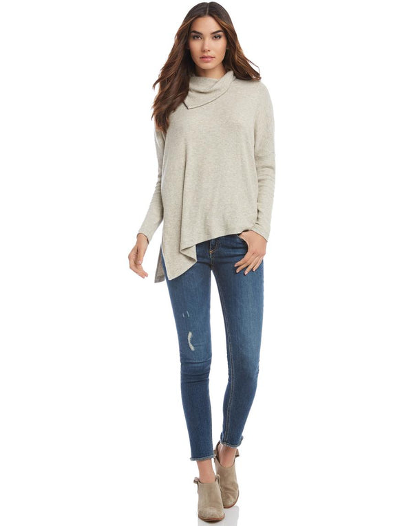 Asymmetric Drape Neck Sweater