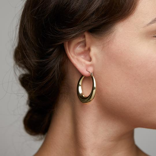Gold Annie Hoops