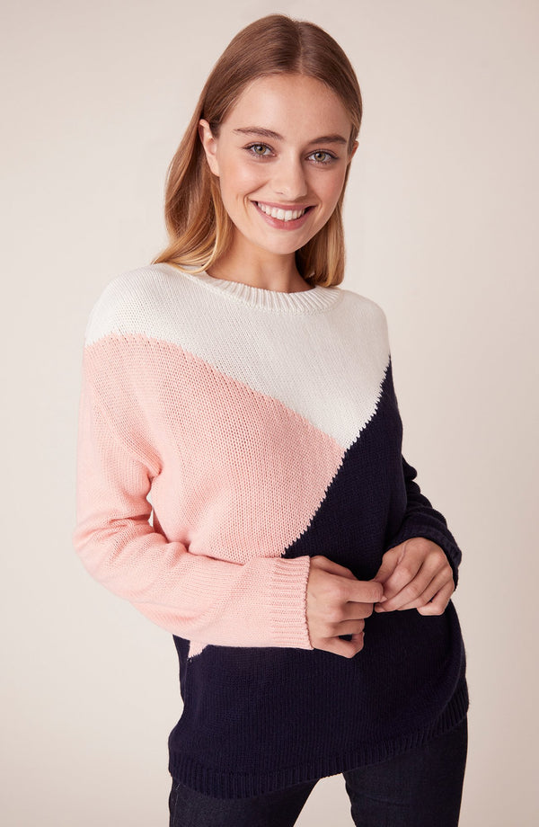 Bunny Slope Color Block Sweater