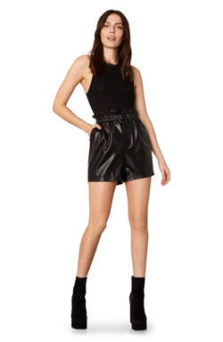 Friend or Faux Vegan Leather Shorts