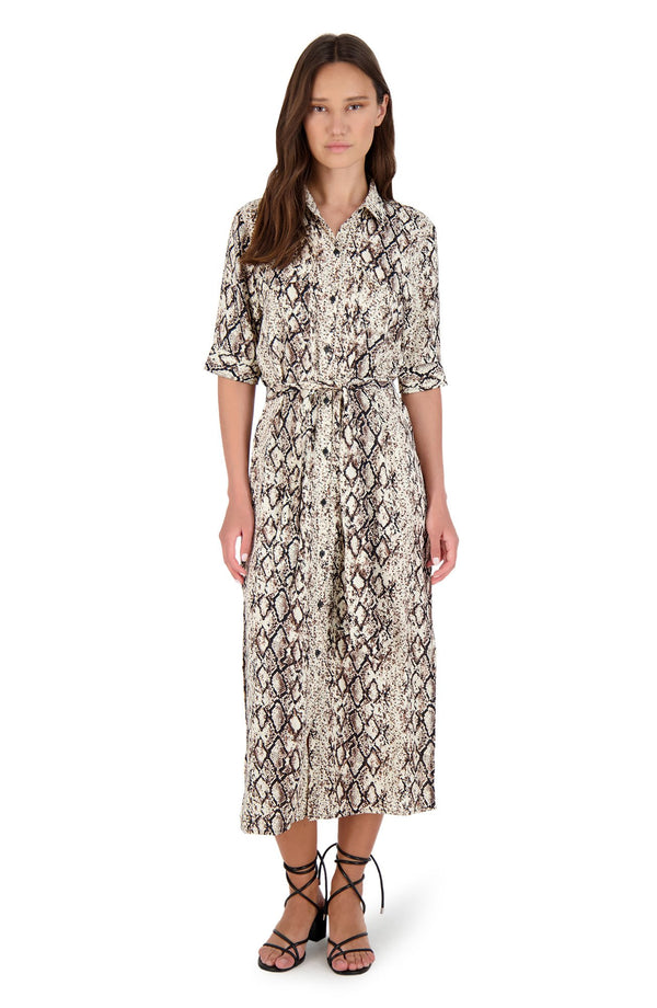 Hither and Slither Midi Dress