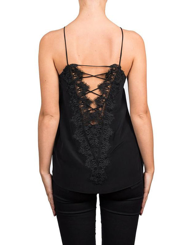 The Charlie Charmeuse Cami, Black