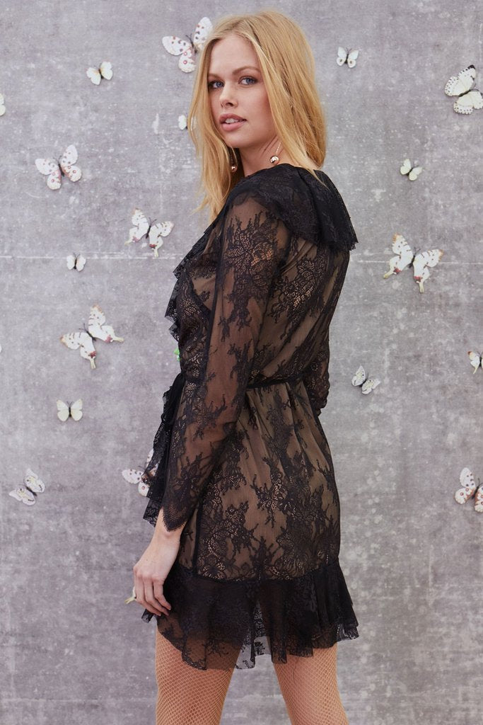 Daphne Lace Wrap Dress