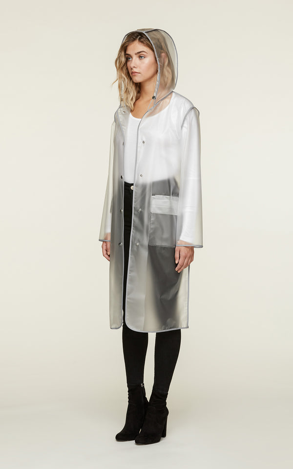 Coralie Transparent Rain Coat