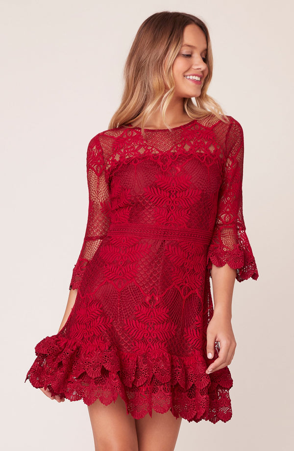 Layer Cake Lace Ruffle Dress