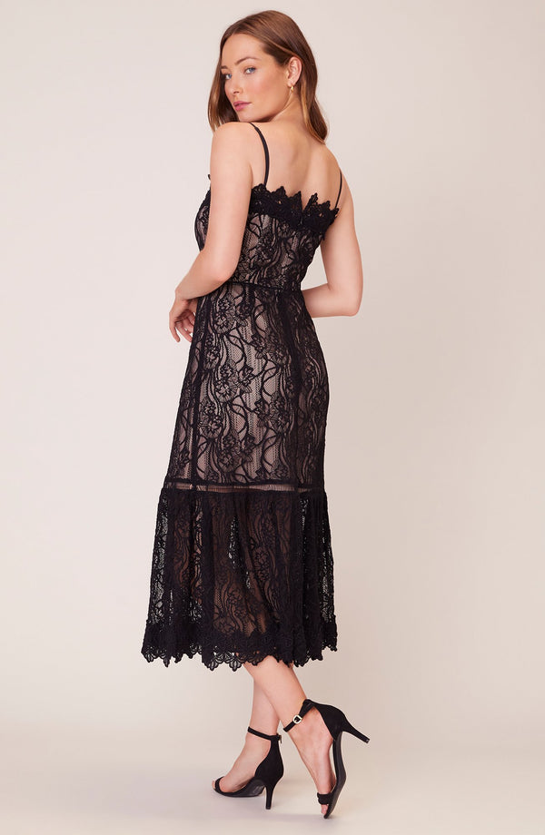 Lace to Face Midi Dress