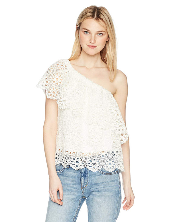 Lolita One Shoulder Lace Top