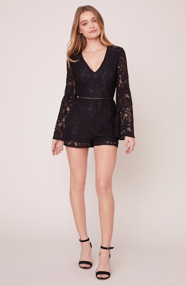 Know You Lace Bell Sleeve Romper