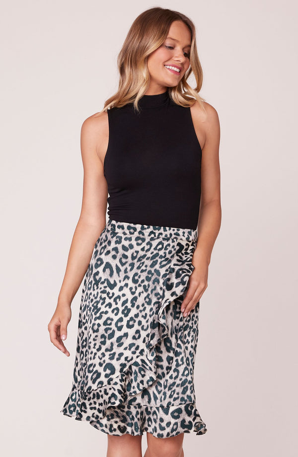 In The Wild Leopard Wrap Skirt
