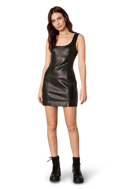 Rock City Vegan Leather Mini Dress