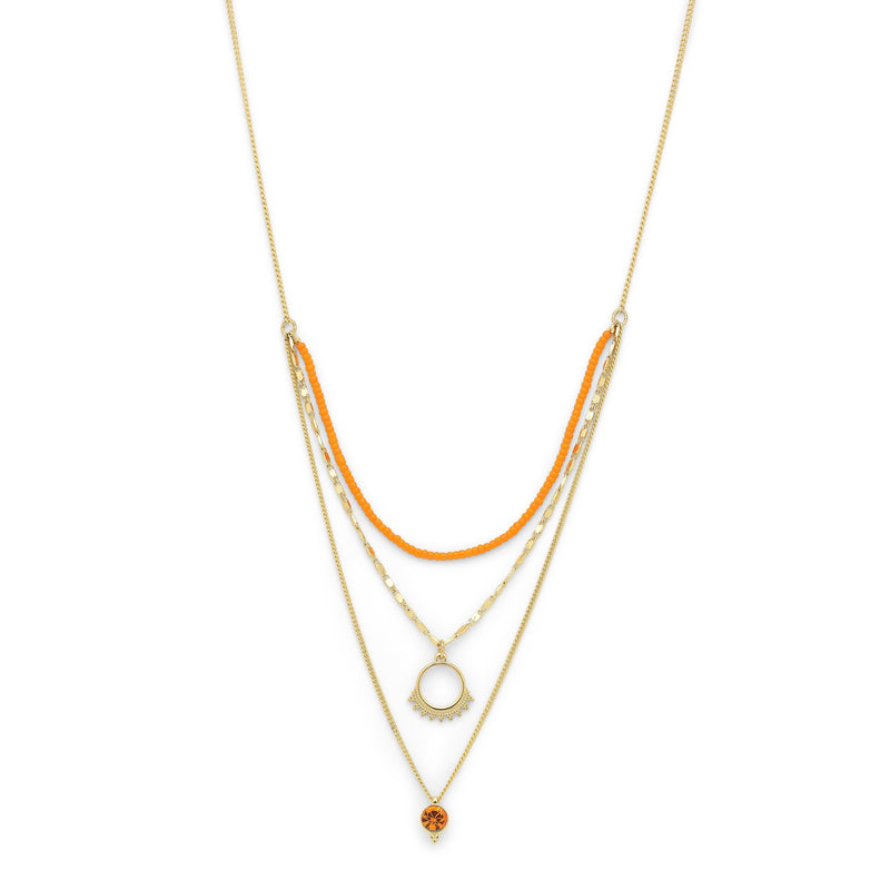 Gold Kiku Necklace